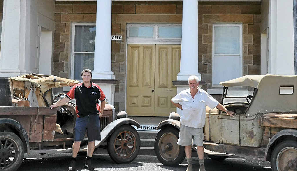 Bevan Springate and Graeme Collins will feature their original Chevrolets at the Allora Heritage Weekend this weekend.