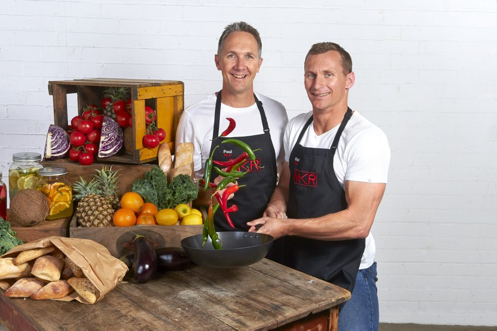 My Kitchen Rules 2014 Queensland team Paul, left, and Blair from Tugun.