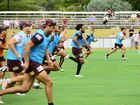 Broncos players and staff visit Ipswich for a training session at Brothers Leagues Club.