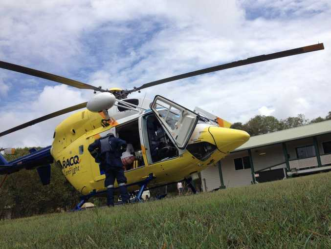 The RACQ CareFlight Rescue crew has flown a teenage girl suffering an asthma attack off Fraser Island.