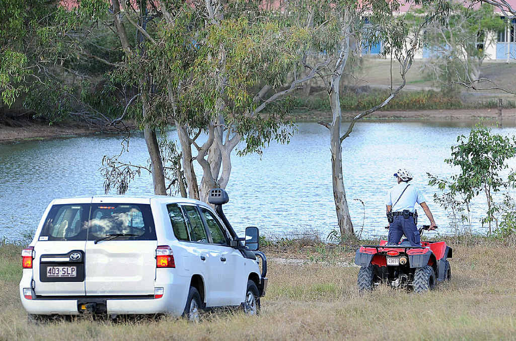 Police search for a missing man in the grounds of Hervey Bay TAFE on Urraween Rd.