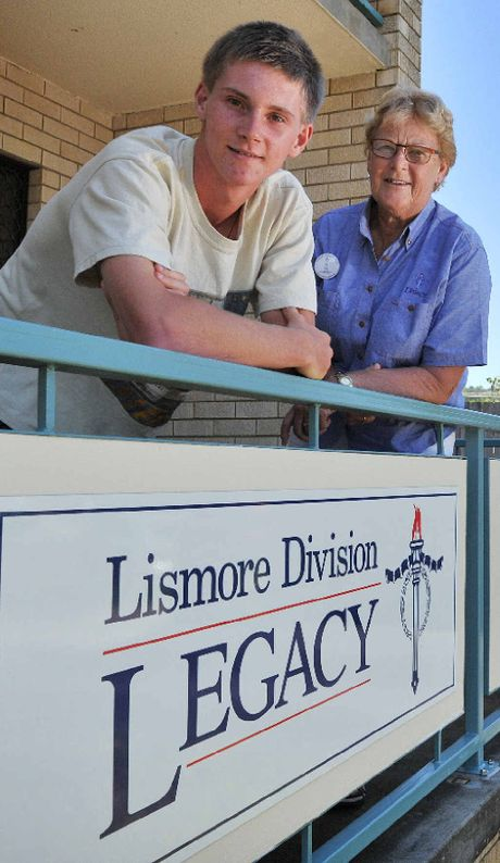 VOLUNTEERING: Alex Clark at Legacy Lismore, pictured \with mentor Ros Mayberry.