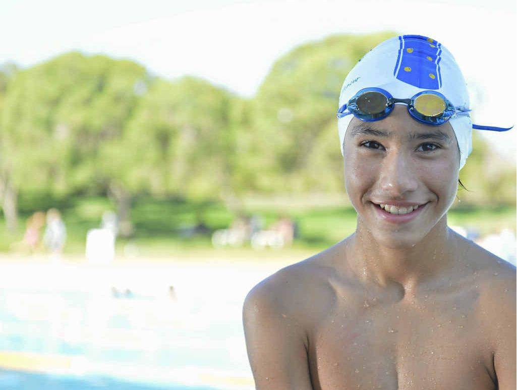 IN FORM: Lachlan Pacheco is ready for the Harbour City Swim Meet.