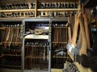 CUT ABOVE: Steve Lehmann's outstanding collection of 1630 axes.