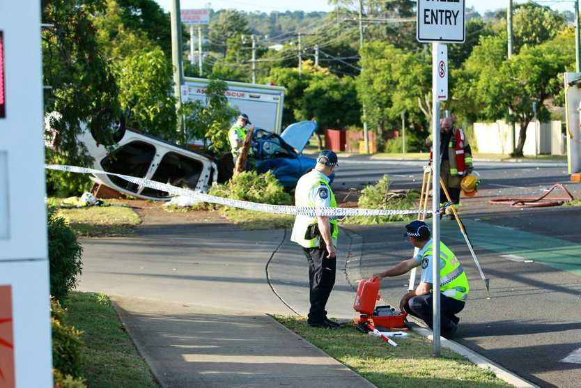 Two car crash at the intersection of Ruthven and Alderley Streets. Photo Contributed Paul Ellison