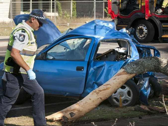 Two people were killed and a man was seriously injured in an early morning crash at Alderley and Ruthven Sts, Toowoomba, on Australia Day 2014.