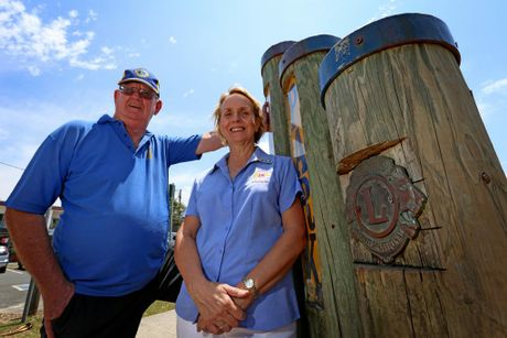 Peter Oliver and Alison Lewis from the Lions Club were excited to win the Community Event of the Year for their Carols by the Coast event at Kingscliff.