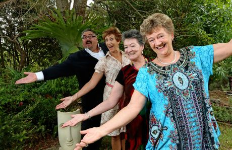 John Holmes, Bryanne Jardine, Heather Martin and Kay Robinson are representing the Committee of the Murwillumbah Festival of Performing Arts, which won the Arts and Cultural Achievement Award.