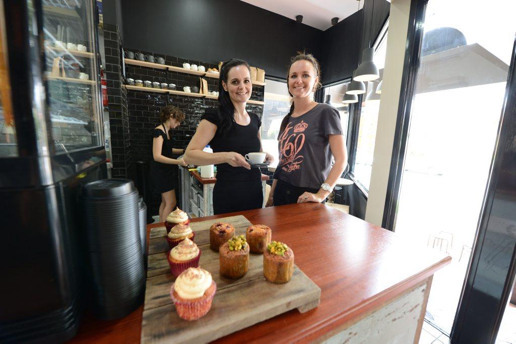 NEW VENTURE: Co-owners of Seed Coffee Hayley Dunikowski and Elisha Rashleigh at the Limestone Street cafe.