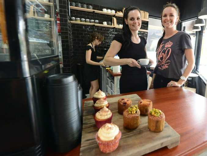NEW VENTURE: Co-owners of Seed Coffee Hayley Dunikowski and Elisha Rashleigh at the Limestone Street cafe.