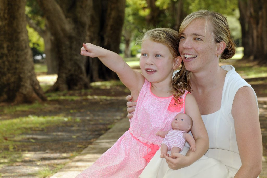 Life got easier for Hayley Cox and her daughter Izabella with a 24-hour daycare trial coming to Toowoomba.