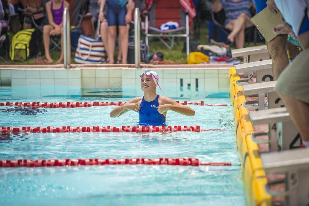 Paris Richardson at the 2014 Harbour City Swim Meet held at the Gladstone Aquatic Centre, Gladstone.