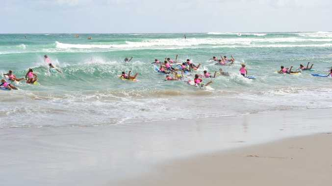 The 2014 Australia Day Byron Bay Paddle. Photo Mireille Merlet-Shaw / The Northern Star