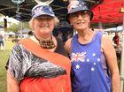 Colleen Strelow and Yvonne Radloff celebrating Australia Day at The Rockhampton Heritage Village. Photo Allan Reinikka / The Morning Bulletin