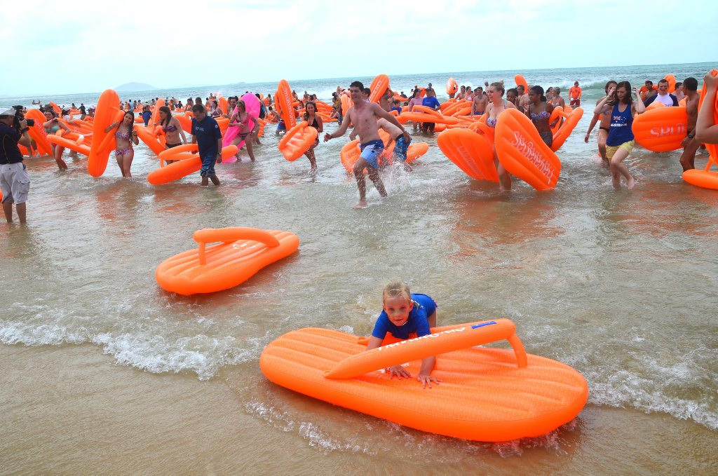 Australia Day celebration at Mooloolaba Beach. Photo: Anna Powell / Sunshine Coast Daily
