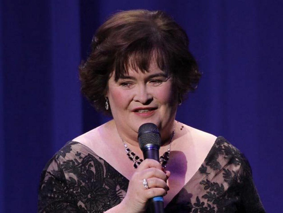 Susan Boyle makes her first Las Vegas performance with Donny Osmond at 'The Donny and Marie Show at The Flamingo Las Vegas in Las Vegas.