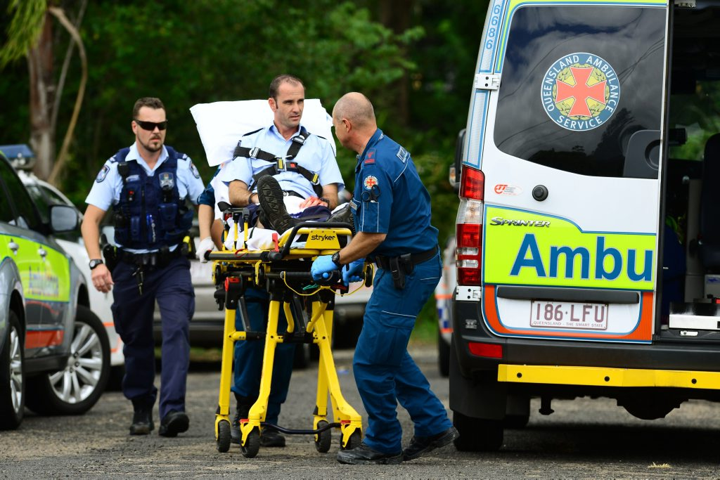TAKEN TO HOSPITAL: A police officer was injured during the incident.