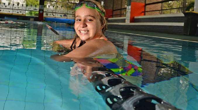 Tweed swimming sensation Bindi Ware in the pool. Photo: Blainey Woodham