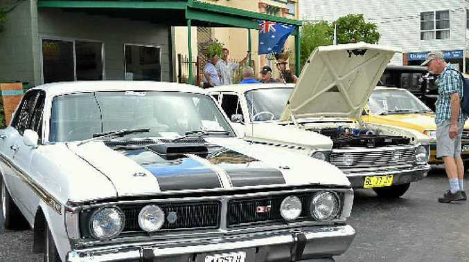 SHOW N SHINE: Some of the vintage cars on display in Richmond Terrace, Coraki as part of the Richmond Valley Australia Day Celebrations.