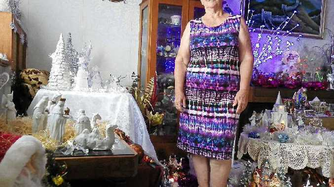 IMPRESSIVE: Sue from Coraki with a small selection of her Christmas collection.