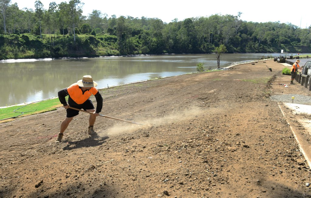 Rebuilding of Riverside Park in Karalee is nearing completion after flood destroyed the park including the boat ramp. Photo: Rob Williams / The Queensland Times