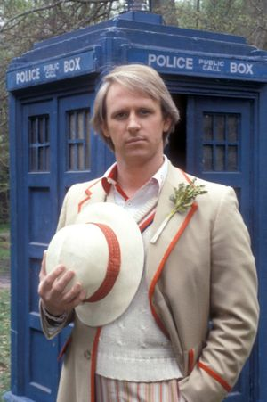 Actor Peter Davison, pictured in a scene from the TV series Doctor Who, will host the Queensland Symphony Orchestra's Doctor Who Symphonic Spectacular. Supplied by Kath Rose Publicity.