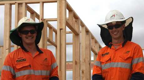 McNab apprentices Matthew Mulhall and Louis McGowan.
