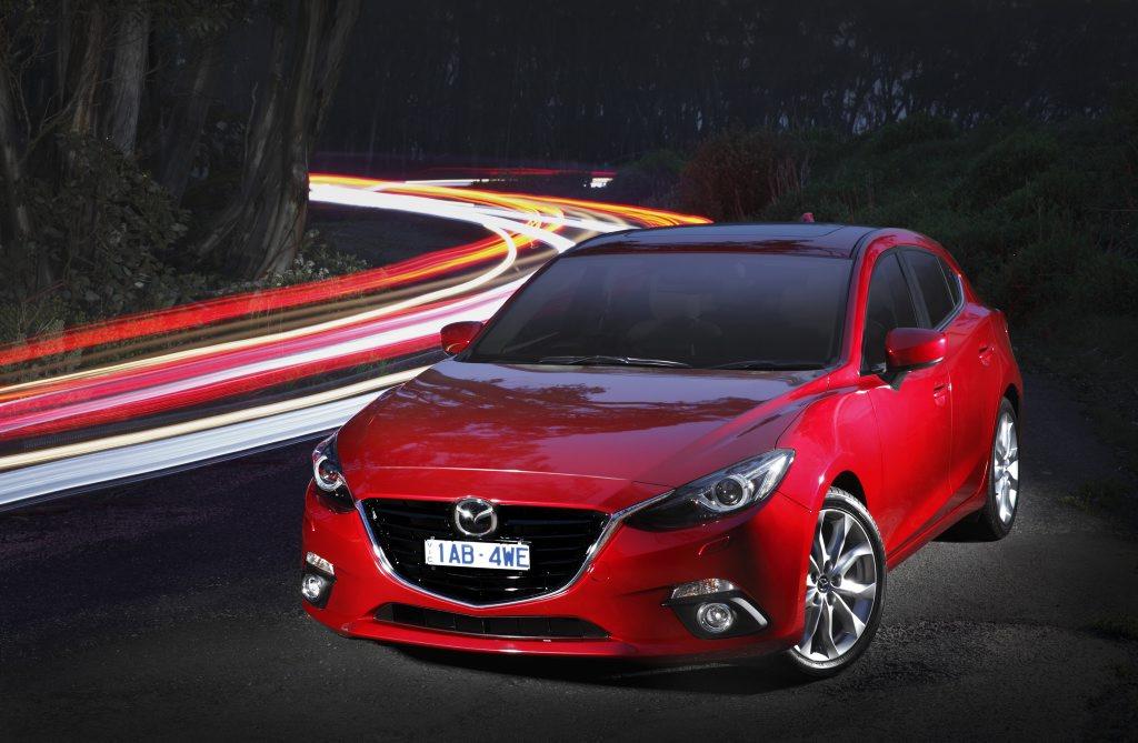 The third-generation Mazda3.