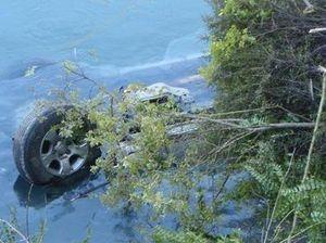 Driver survives 40 metre plunge off bridge