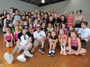 Celebrity guest teacher gives dancers added spark