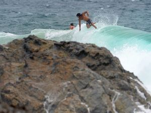 Wild seas create dangerous conditions