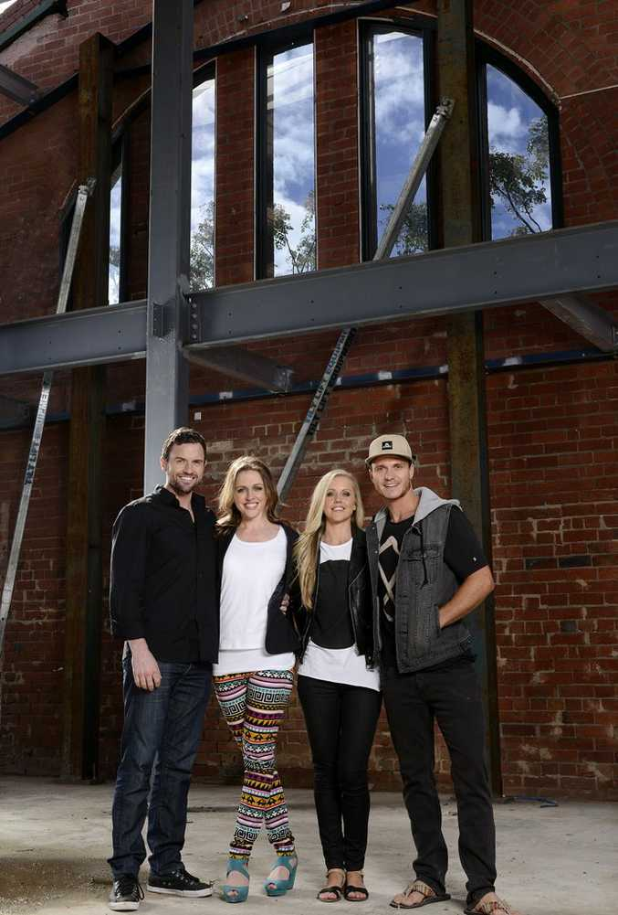 Steve, Chantelle, Kara and Kyal are now officially blockheads.