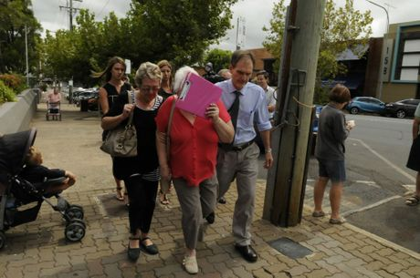 COURT: Family of murdered woman Melanie Perks and her daughter Ebony leave Toowoomba Court following the appearance of the 16-year-old boy charged with their murders.