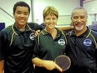 ON THE MOVE: The Ipswich Table Tennis summer season is about to begin. Club members preparing for the coming season (from left) are Roshan Seth, Kym Bryant and Chad Anderson.