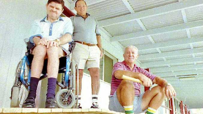 Lismore Lions Club building a ramp for Lismore Challenge in 1999.