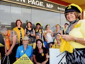 Nans needle protest turns to Ballina