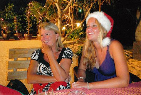 Alex Geldenhuys, previously Lee Barnett, and daughter Samantha in Thailand. Source: Supplied