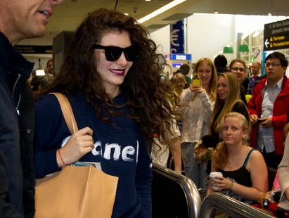 Grammy winning New Zealand music artist Lorde arriving back in Auckland today.