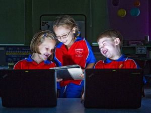 Tablets enhance old-school learning