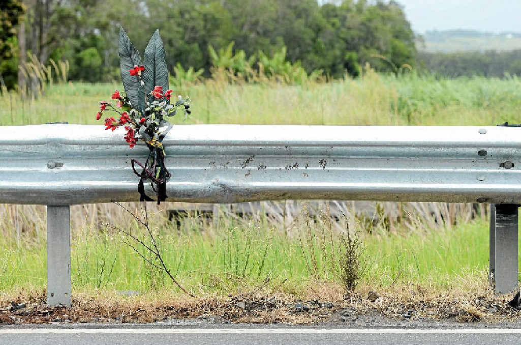 TRAGIC: The crash site where a 20-year-old woman died last week.