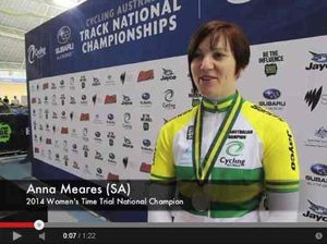 Meares adds sixth national title in women's 500m time trial
