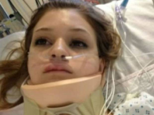 MaKenzie Wethington survived a 3,000 feet (1km) fall during a sky-diving incident.