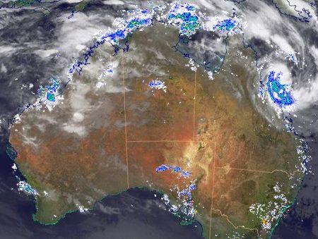 BOM radar image.