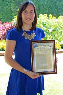 2014 WH Groom Scholarship winner Shelby Battaglene.