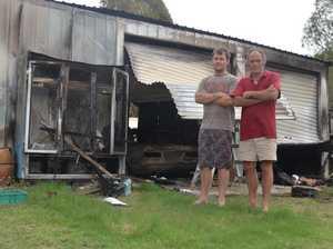 Mt Berryman fire destroys shed