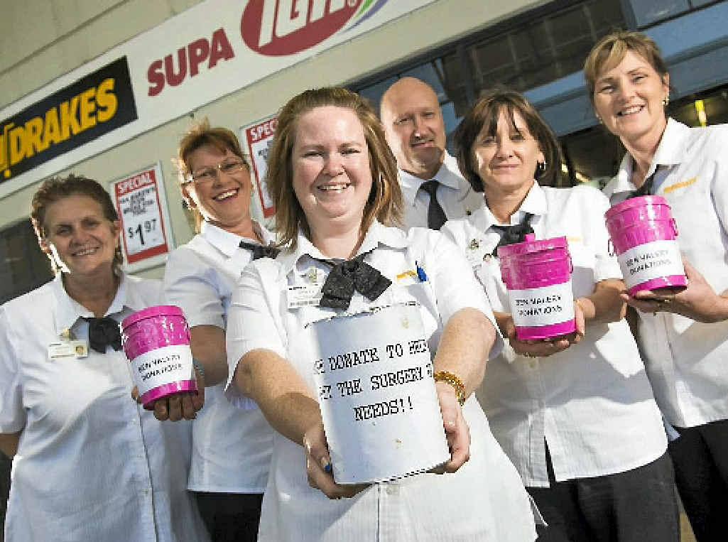 Staff at Supa IGA, Sun Valley, Brenda Kiernan, Tanya Melksham, Mark Harley, Kristy Thorne, Karen Boyer and Tracy Taylor have organised fundraising events for 18-year-old Ben Valery.
