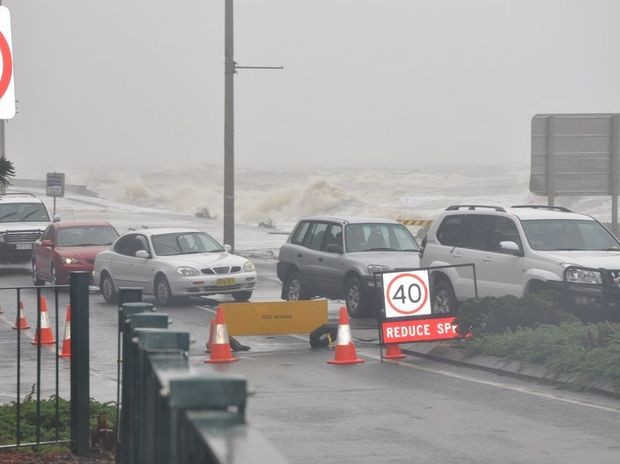 A PORTION of Farnborough Road around the Bluff area has been closed due to extreme tidal surges and strong wind gusts sending waves across the road.