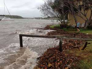 King tide threatens Boyne Island homes