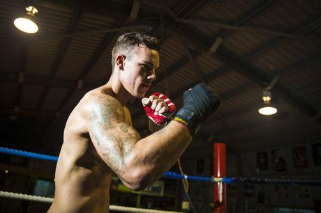 Liam Nicolson trainging at Gladstone Amateur Boxing Club.