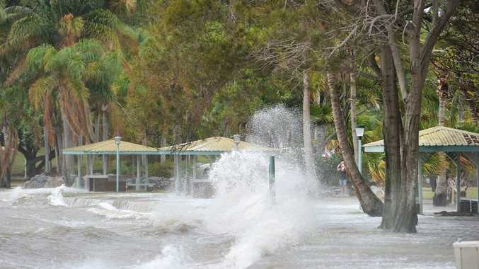King Tide floods - Barney Point. Photo Mike Richards / The Observer